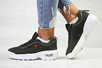 Женские кроссовки Fila Disruptor 2 Yalor темно зеленые / кроссовки женские Фила