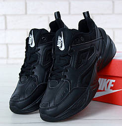 Мужские кроссовки Nike M2K Tekno black. Живое фото. Топ реплика ААА+