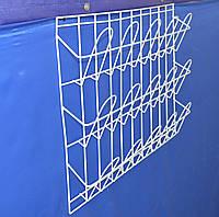 Торговая  полка для полиграфической продукции навесная корзиночная 3 ряда по 5 ячеек, фото 1