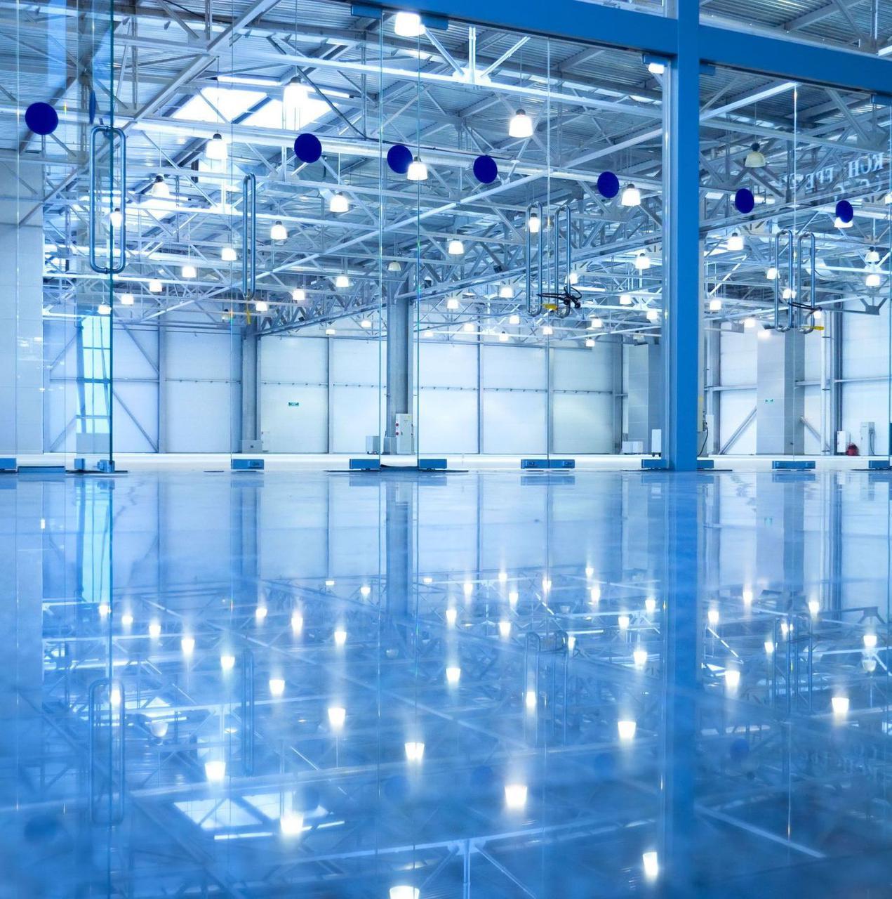 Монтаж внутреннего и внешнего промышленного освещения