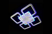 Светодиодная люстра с пультом-диммером и синей подсветкой белая А-8060-4WH, фото 1