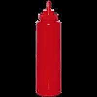 Бутылка 700мл с носиком (1шт) красная