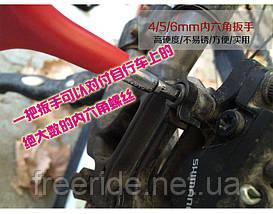 Ключ Y-образный под шестигранники 4,5,6 мм,  головки 8,10,12мм, фото 2