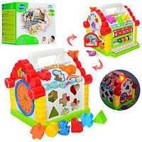 Многофункциональная развивающая музыкальная игрушка со звуковыми и световыми эффектами Теремок Limo Toy