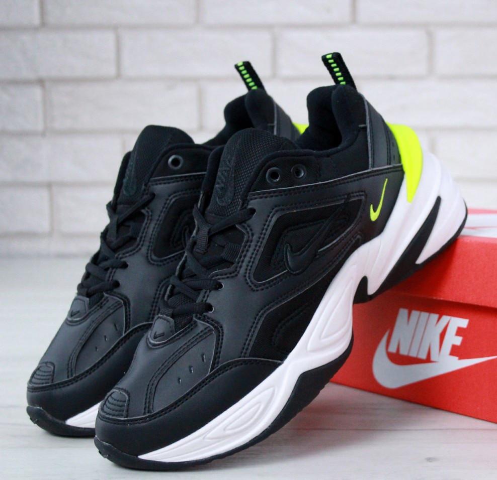 ed6c1b96 Мужские кроссовки Nike M2K Tekno Black Volt. Живое фото. Топ реплика ААА+
