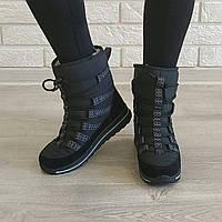 Дутики короткие на шнурках женские Прогресс