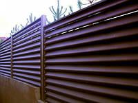 Забор жалюзи тип 100/110 0,45мм