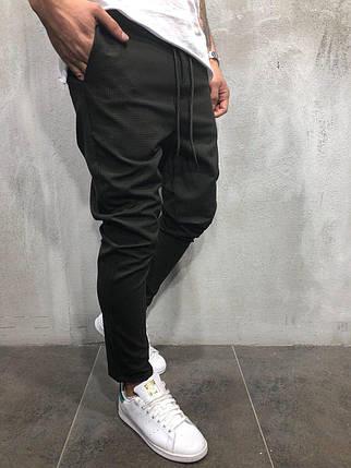 Мужские стильные брюки черные, фото 2