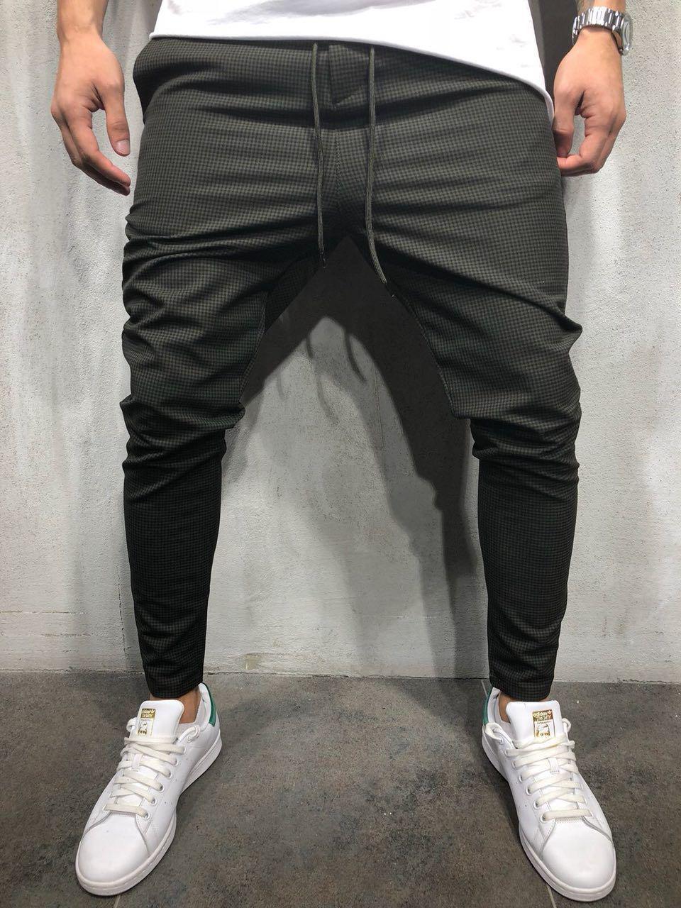 Мужские стильные брюки черные