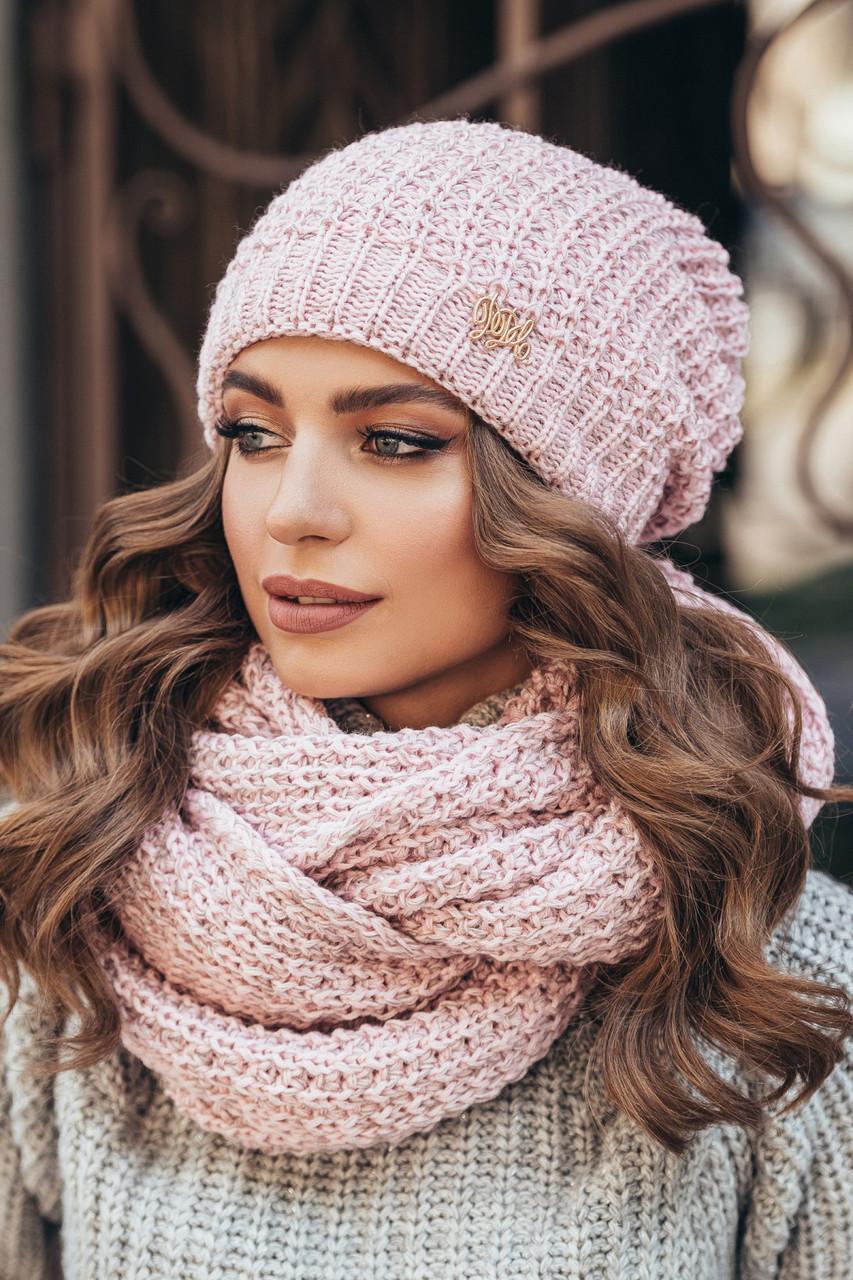 шапка вязаная женская сьюзи пудра продажа цена в харькове