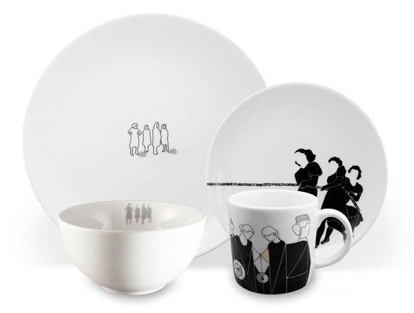 Посуда с деколью. Чашки, блюда, тарелки, вазы.