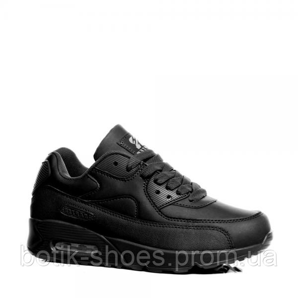 f44dba205309 Женские черные легендарные кроссовки Nike Air Max 90 Найк Аир Макс 90,  реплика Rapter B733