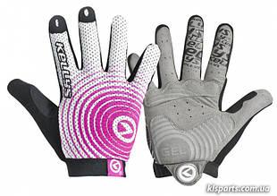 Перчатки KLS INSTINCT LONG белый/розовый M