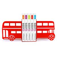 Упоры держатели ограничители для книг букенды Glozis Bus G-005 30 х 20 см
