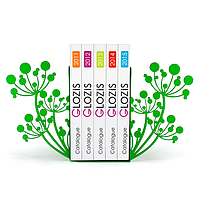 Упоры держатели ограничители для книг букенды Glozis Spring G-007 30 х 20 см
