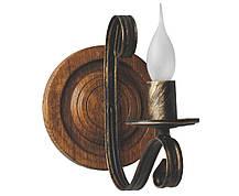 Деревянное бра Колесо Кольцо светлый дуб на 2 лампы, фото 2