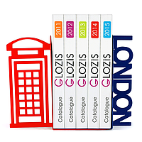 Упоры держатели ограничители для книг букенды Glozis London G-010 30 х 20 см