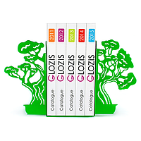 Упоры держатели ограничители для книг букенды Glozis Bonsai G-011 30 х 20 см
