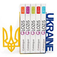 Упоры держатели ограничители для книг букенды Glozis Ukraine G-020 30 х 20 см