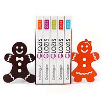 Упоры держатели ограничители для книг букенды Glozis Gingerbread G-021 30 х 20 см