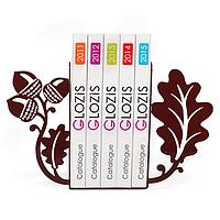 Упоры держатели ограничители для книг букенды Glozis Acorns G-022 30 х 20 см