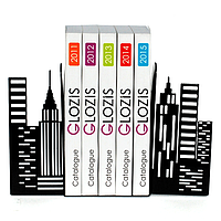 Упоры держатели ограничители для книг букенды Glozis City G-026 30 х 20 см
