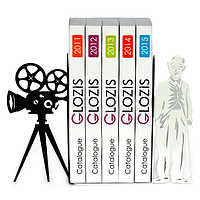 Упоры держатели ограничители для книг букенды Glozis Chaplin G-025 30 х 20 см