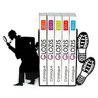 Упоры держатели ограничители для книг букенды Glozis Sherlock G-029 30 х 20 см