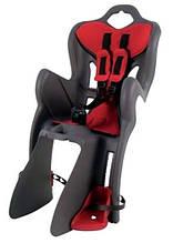 Сидіння дитяче Bellelli B1 Clamp на багажник сірий/червоний