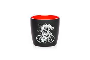Чашка з лого чорний/червоний, 300 мл
