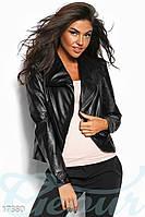 Короткая черная куртка косуха