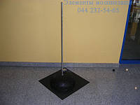 Молниеприемник с бетонным основанием