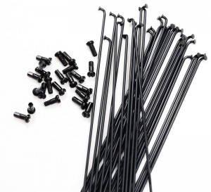 Спиця X17 нержавейка 282мм, з ніпелем, чорний, фото 2