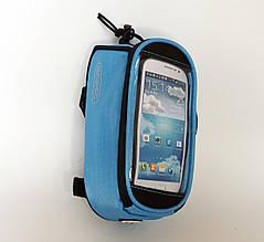 Сумка-чохол на раму ROSWHEEL COLOR для телефону блакитний M