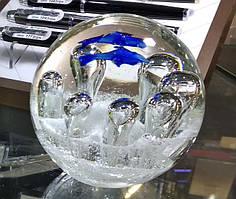 """Куля скляна """"Підводний світ"""", d - 8,5 см"""