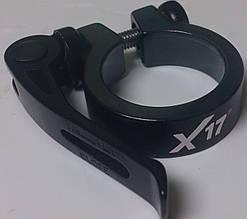 Хомут підсідельного штиря X17 з ексцентриком 28,6 мм чорний
