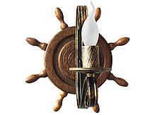 Деревянная люстра Колесо Кольцо на 8 ламп, фото 3