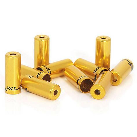Кінцевик гальмівної рубашки XLC BR - X10, ø5,0мм 50шт , золотий, фото 2