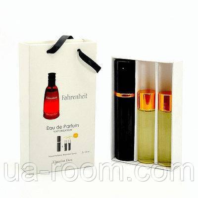 Мини-парфюм мужской Christian Dior Fahrenheit, 3х15 мл, фото 2