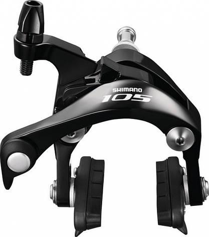Гальмо Shimano BR-5800 105, передній , колодка CS51 чорний, фото 2