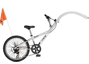 Причіп для двохколісного велосипеду MT 20620 SL сріблястий (Silver)