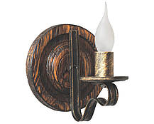 Люстра из дерева Колесо Кольцо состаренное белое на 5 ламп, фото 2