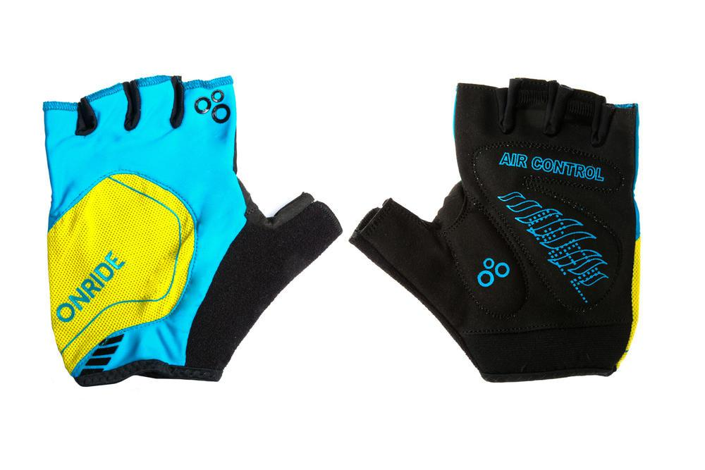 Рукавички ONRIDE Catch синій/жовтий XL