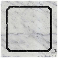 Напольная плитка Devon&Devon Плитка напольная DEVON&DEVON PRESTIGE 5 (white carrara - black marquinha) ddprest5mca-ne