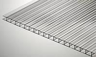 Сотовый поликарбонат Soton 4 мм, размер листа 2100х6000 мм, прозрачный