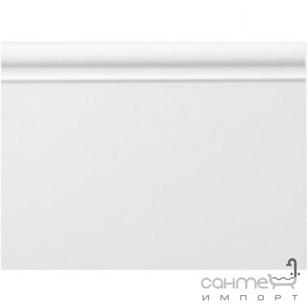 Плитка для ванной Devon&Devon Плитка керамическая плинтус DEVON&DEVON ELYSEES BOISERIE plinth (white) ddeBplwh
