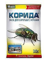 Корида / Коррида, 30 г — инсектицидное дезинфицирующее средство для уничтожения мух и слепней в помещениях