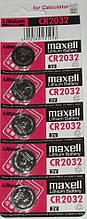Батарейка CR2032 MAXELL 3V (1шт.)