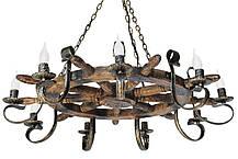"""Деревянное бра """"Штурвал старый"""" состаренное дерево на 1 лампу, фото 3"""