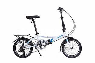 """Велосипед складаний Langtu KH017 16"""" білий/блакитний (White//Blue)"""